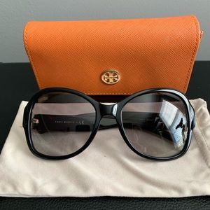 Tory Burch black dark tortoise Sunglasses